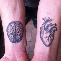 What will you use #brain or #heart ?  #tattoo