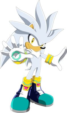 Silver the Hedgehog (in a Sonic X style drawing)