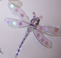 How to make Beaded Dragonfly - DIY Craft Project with instructions from Craftbits.com