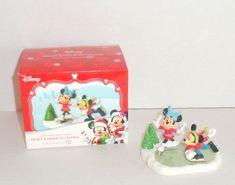 New Dept 56 Disney Mickeys Merry Christmas Village Mickey & Minnie Go Skating #Department56 #disneychristmas #mickeymouse