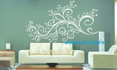 Vinyl Wall Decal Nature Design Tree Wall Decals Wall stickers Nursery wall decal wall art------beautiful flower