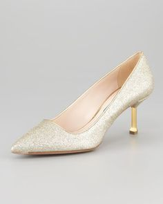 Glitter Pointed-Toe Pump by Prada at Neiman Marcus.