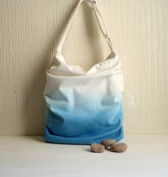 Ombre pleated shoulder bag  Slouch tote bag Hand by CheriDemeter, $42.00