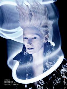 'The Aura' Tilda Swinton by Sølve Sundsbø for W Korea August 2013 [Editorial] - Fashion Copious