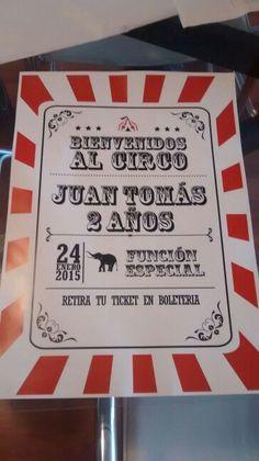 Cartel bienvenida circus party