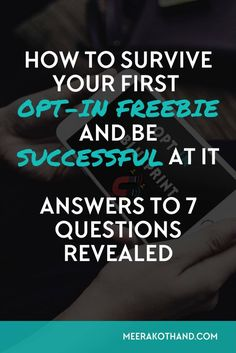 Are you in the midst of creating your first opt-in freebie? Wish you could get…