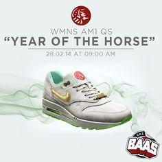 "NIKE WMNS AM1 QS ""YOTH"" Release: 28.02.14  9:00 AM  Code: 649458-001  www.sneakerbaas.nl"
