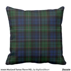 20x20 MacLeod Tartan Throw Pillow