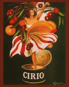 Cirio Print Vintage Italian Advertising Poster Art - 12x16 inches