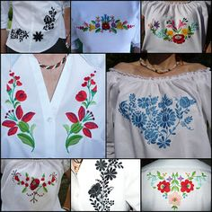 Beutiful hungarian embroideried dresses.