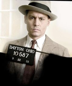 "PUBLIC ENEMIES - Johnny Depp as notorious bank robber ""John Dillinger"""