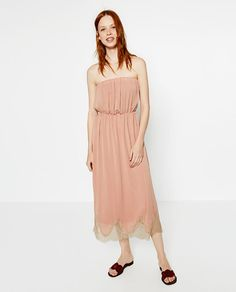 Image 1 of DRESS WITH LACE HEM from Zara