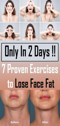 7 Proven Exercises to Lose Face Fat In 2 Days health remedies Medicine health remedies Natural Homes health remedies Tips health rem Losing Weight Tips, Lose Weight, Health Tips, Health And Wellness, Health Fitness, Pet Health, Face Health, Wellness Tips, Reduce Face Fat