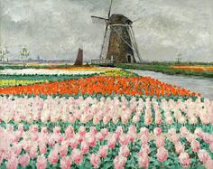 George Hitchcock, Pink Tulips