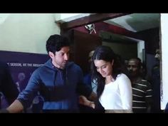 Shraddha Kapoor with Farhan Akhtar at screening of ROCK ON 2 movie.