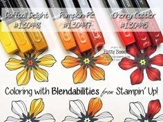 Learn 3 ways to shade with Stampin' Up Blendabilties markers and the Beautiful Bunch flower stamp. Video tutorial by Patty Bennett