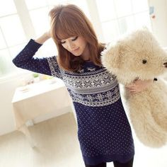 Nordic-Pattern Long Sweater. Looks super comfy.
