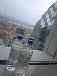 Purh20 natural spring water. at the BNY Mellon Center,  Philadelphia, PA,