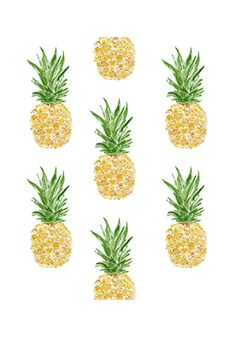 In this art print of pineapples I used my original watercolor painting to create an all over pattern. As a textile designer I love repetition and