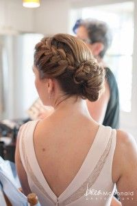 Hair that Moves, Nantucket wedding, Bridal hairstyle, natural hairstyle, brides maid hairstyle with a bun and braid