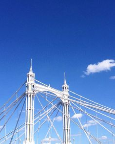 Albert Bridge, London - most beautiful of the bridges across the Thames. Minimal architecture photography