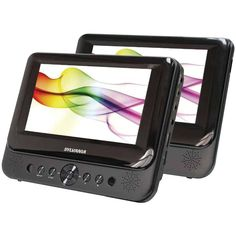 "7"" Sylvania Dual screen Portable MP3/DVD/CD Player For Car"