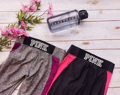 Look & feel your best with these #PINK gym leggings from #PlatosBarrhaven – Just $30 EACH! #GymBum #HealthIsWealth | www.platosclosetbarrhaven.com