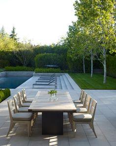 California Dreaming. Andrea Cochran Inspiration for Ian Barker Gardens. Outdoor entertaining area and pool.