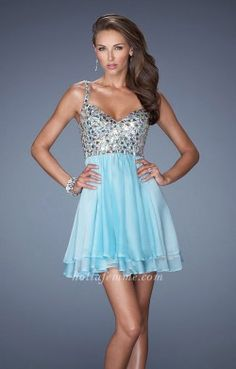La Femme 19358 Aqua Short V Neck Sleeveless Homecoming Dresses [La Femme 19358] – $159.00 : Prom Dresses | Homecoming Dresses | Bridal Dresses | Cocktail Dresses | Evening dresses By HOTLAFEMME