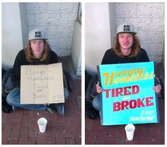 These Artists Hand-Paint Beautiful Signs For Homeless People