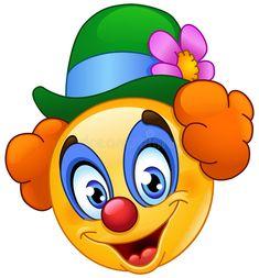 Download Emoticon del pagliaccio illustrazione vettoriale. Illustrazione di compleanno - 91165599
