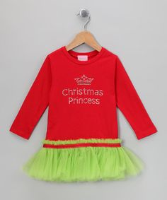 Take a look at this Holly 'Christmas Princess' Tutu Tee - Infant, Toddler & Girls by T-Shirt Tutus on #zulily today!