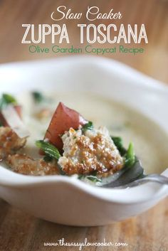 Slow Cooker Zuppa Toscana soup, an Olive Garden copycat recipe