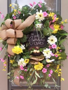 """""""A DAY in the GARDEN"""" - XXL Chic Shabby Cottage Rustic Spring / Summer Wreath #Handmade"""