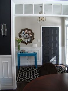 Amazing Tricks Can Change Your Life: Interior Painting Ideas Warm interior painting palette design seeds.Interior Painting Living Room Apartment Therapy interior painting living room home.Interior Painting Schemes Whole House. Painted Interior Doors, Black Interior Doors, Black Doors, Interior Paint Colors, Gray Interior, Painted Doors, Interior And Exterior, Interior Painting, Interior Trim