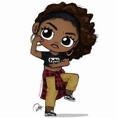 25 best cute drawings images on Black Love Art, Black Girl Art, Art Girl, Black Girls, Kawaii Girl Drawings, Cute Drawings, Hair Drawings, African American Artwork, African Art