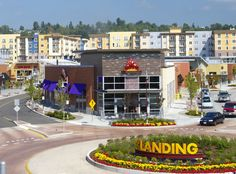 This 46-acre urban village style shopping center development can be found at the south end of Lake Washington in Renton, WA.
