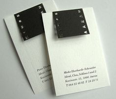 The Simplicity and Elegance of Black & White Business Cards