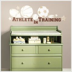 Athlete in Training 23 Removable Wall Decals Baby Sports Nursery Decor Stickers | eBay