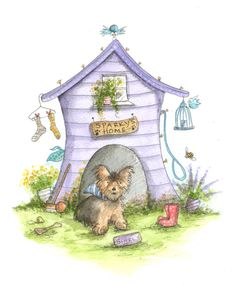 Sparky's+House by+michellecampbellsart
