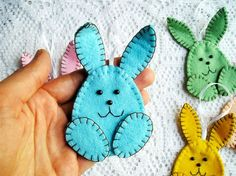 Easter Bunny – Easter decorations, rabbits, ornamental bunny – a unique product by gofen. Via en.DaWanda.com.