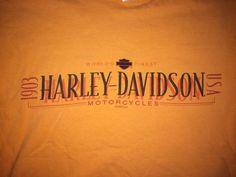 Harley-Davidson Motorcycles Worlds Finest t shirt Orange Medium Vintage  | eBay