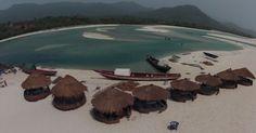 Huts at Number 2 Beach, Sierra Leone