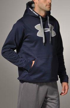 Mens Armour® Fleece Big Logo Hoody Tops by Under Armour $39.97 - $54.99