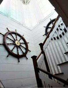 House Decor - traditional - staircase - new york - Go Nautical Collections Seaside Decor, Beach House Decor, Coastal Decor, Home Decor, Coastal Cottage, Coastal Interior, Traditional Staircase, Traditional Décor, Stairway Decorating
