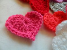 pinkfluffywarrior: Crochet heart (pattern)