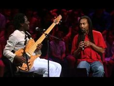 Bobby McFerrin with Richard Bona... McFerrin is an acrobat with his voice... a one man band who does all of the parts.... truly inspires me!
