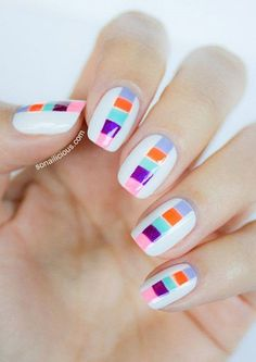 40 Splashy Rainbow Nail Art Designs to Go This Year | LifeStyle Trend | Page 2