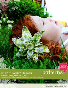 Felicity Fabric Flower Pattern-Free Download @ http://www.carinagardner.com/2010/05/24/felicity-fabric-flower-pattern-free-download/