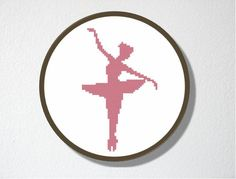Counted Cross stitch Pattern PDF. Instant download. Ballerina Silhouette. Includes easy beginner instructions.. $4.50, via Etsy.